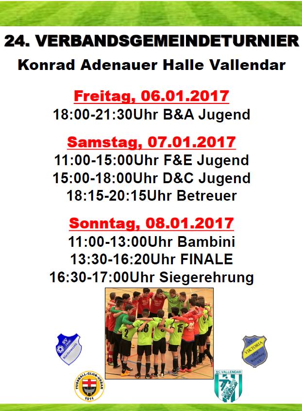 Verbandsgemeindeturnier am kommenden Wochenende