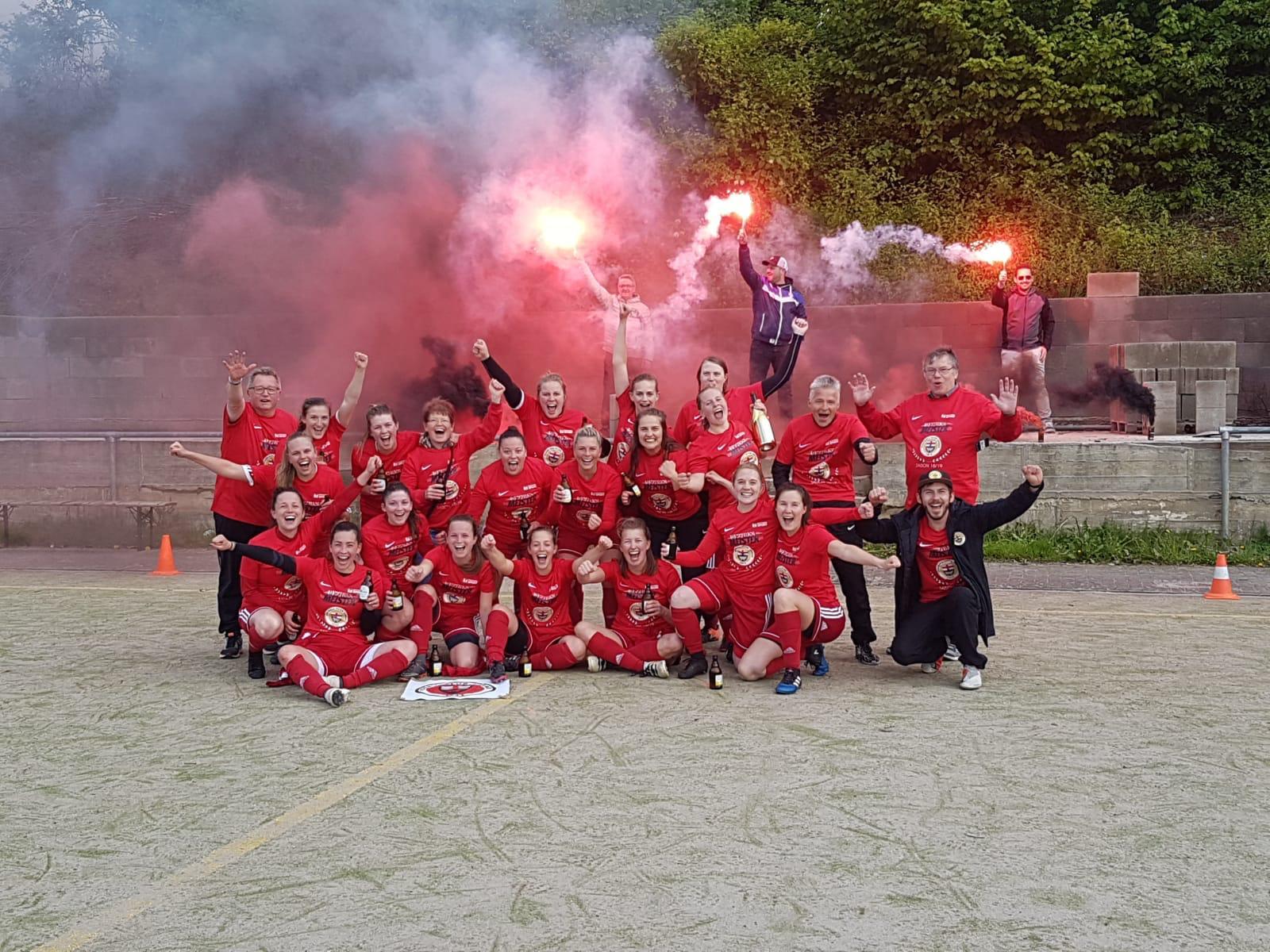 Frauen feiern Bezirksligameistertitel 2018/2019!