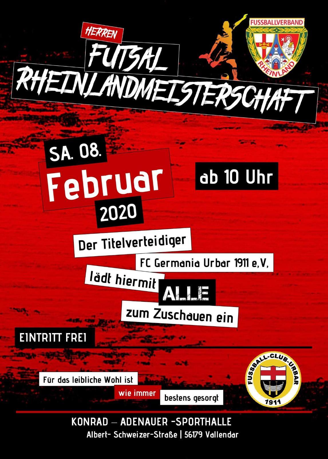 Futsal-Rheinlandmeisterschaft 2020 in Vallendar